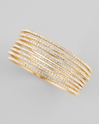 Chamak By Priya Kakkar Set Of Eight Thin Crystal Bangles - Lyst