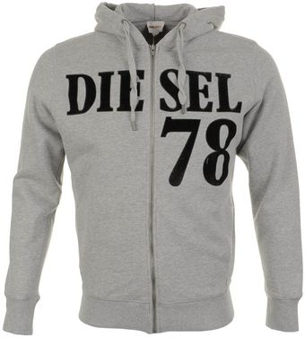 Diesel S Nalin Full Zip Jumper Marl - Lyst