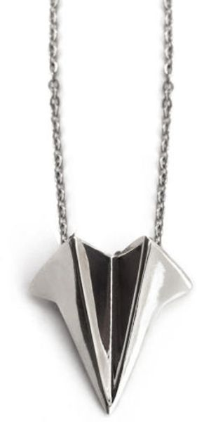 Eaburns Flight Necklace Recycled Silver - Lyst