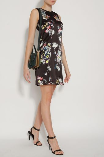 Erdem Slvlss Eames Garden Satin Dress - Lyst