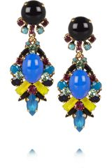 Erickson Beamon Girls On Film Goldtone Crystal Earrings - Lyst
