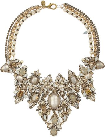 Erickson Beamon Girlie Queen Goldplated Swarovski Pearl and Crystal Necklace - Lyst