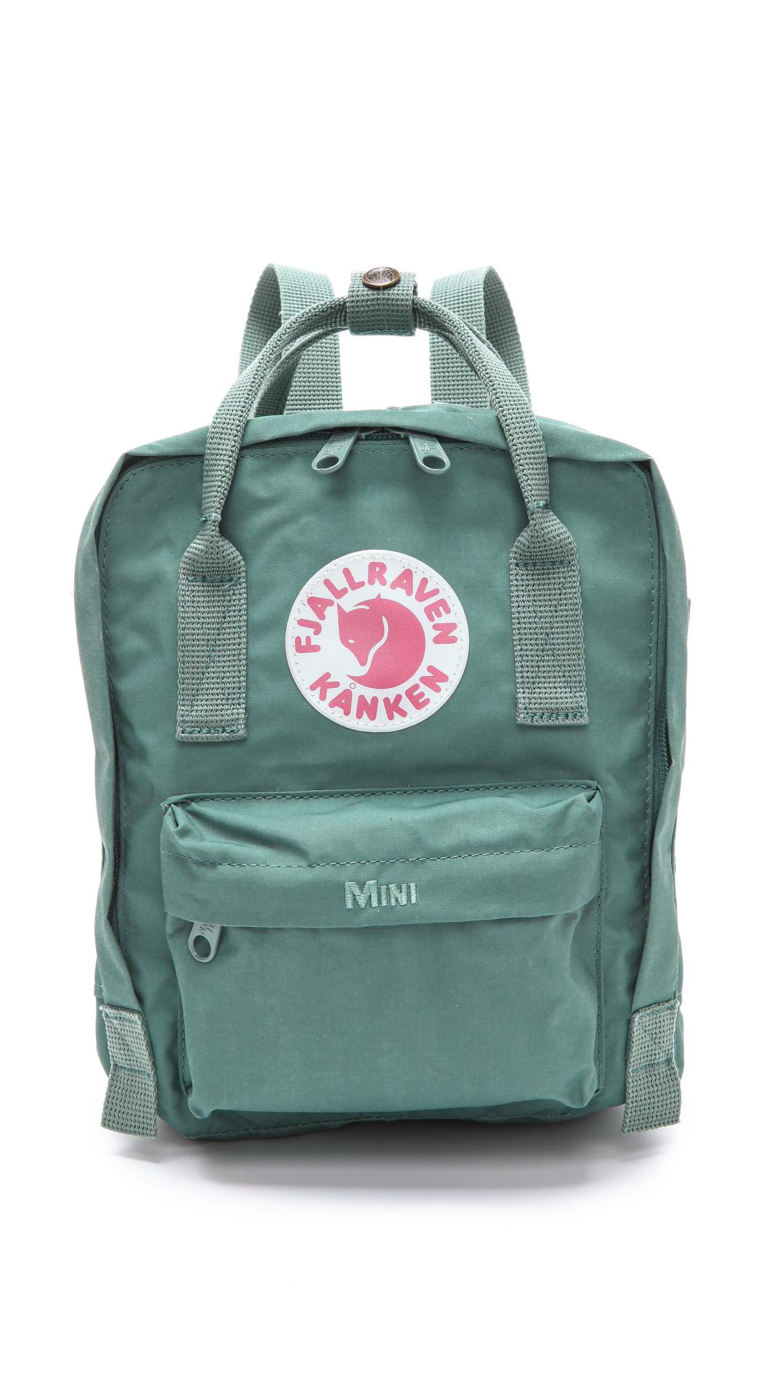 fjallraven kanken mini backpack in green save 22 lyst. Black Bedroom Furniture Sets. Home Design Ideas