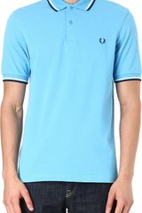 Fred Perry Slimfit Twin Tip Polo Shirt - Lyst