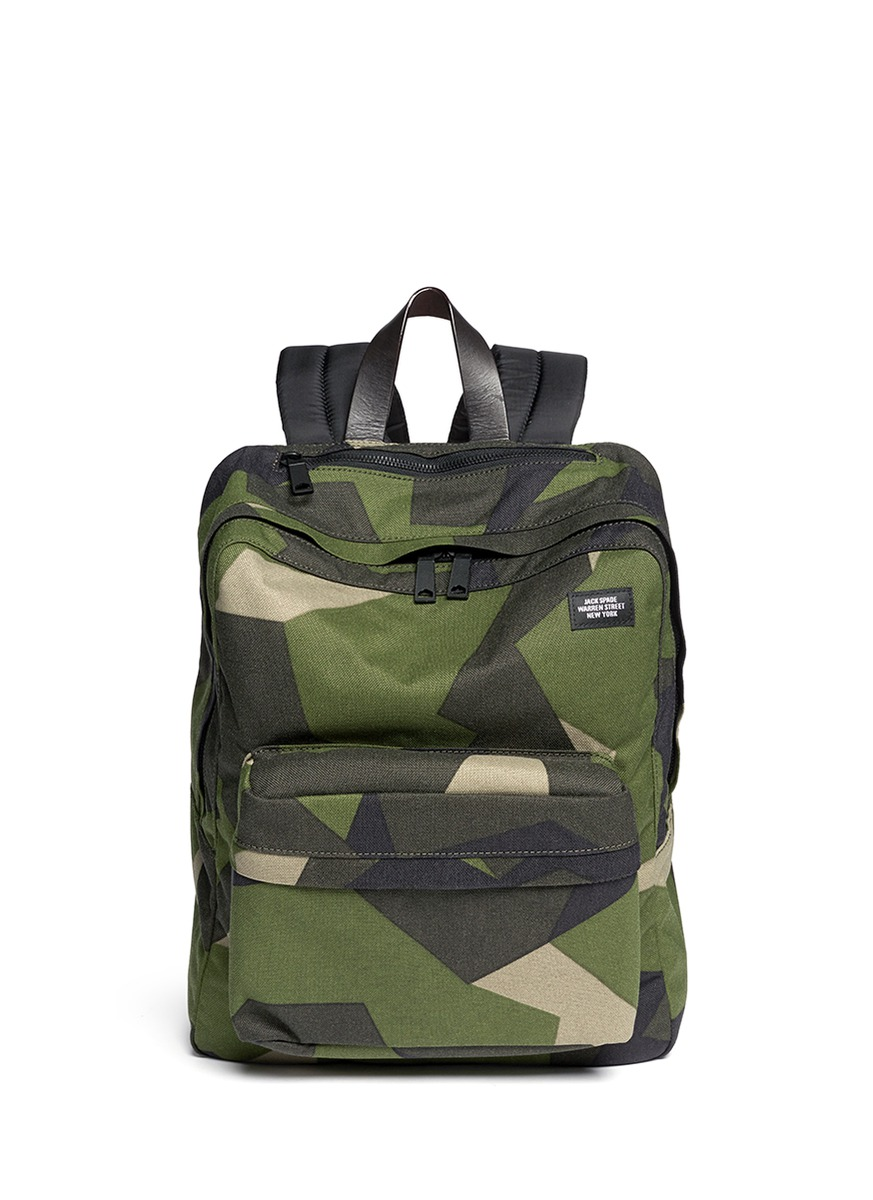 Jack Spade Swedish M90 Cordura Camo Backpack In Green For