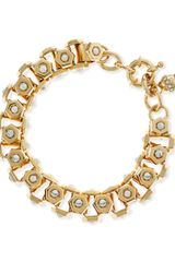 Lee Angel Howlite and Brass Boxstation Bracelet 8l - Lyst