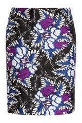 Michael Van Der Ham Jacquard Pencil Skirt - Lyst