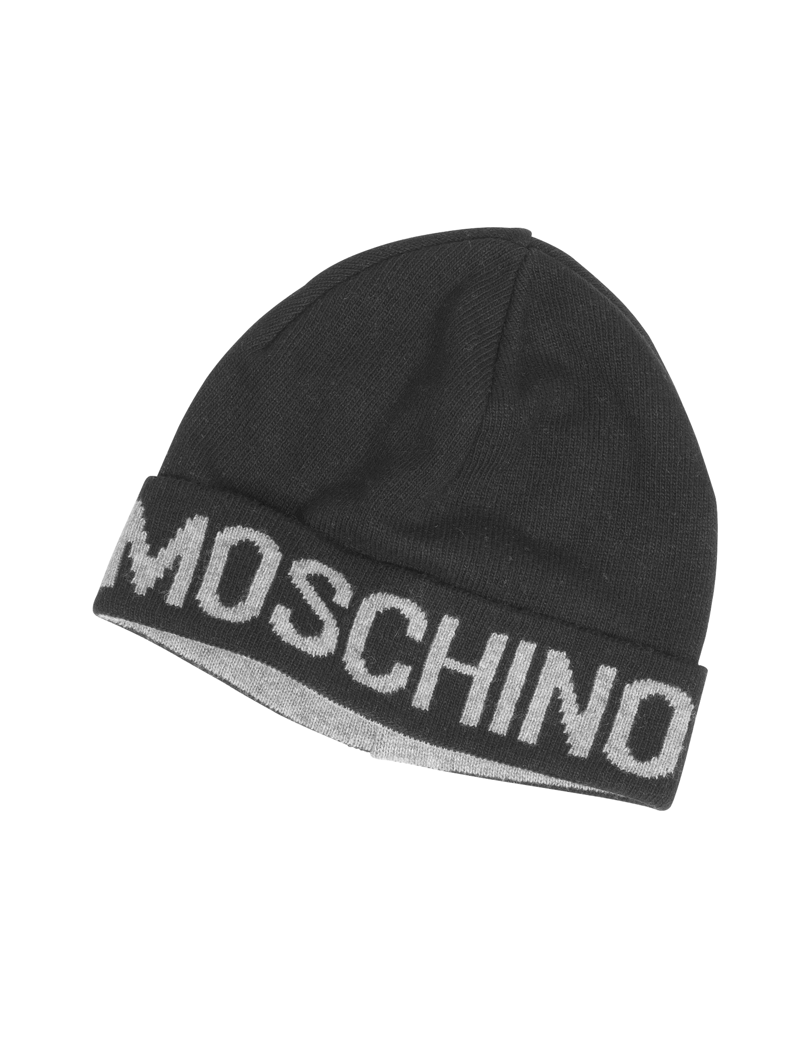Lyst - Moschino Black Signature Wool Blend Hat in Black for Men 78915e71429