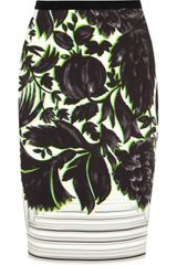 Peter Pilotto Erin Printed Stretchcrepe Skirt - Lyst