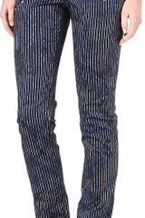 Preen Floral Striped Trousers - Lyst