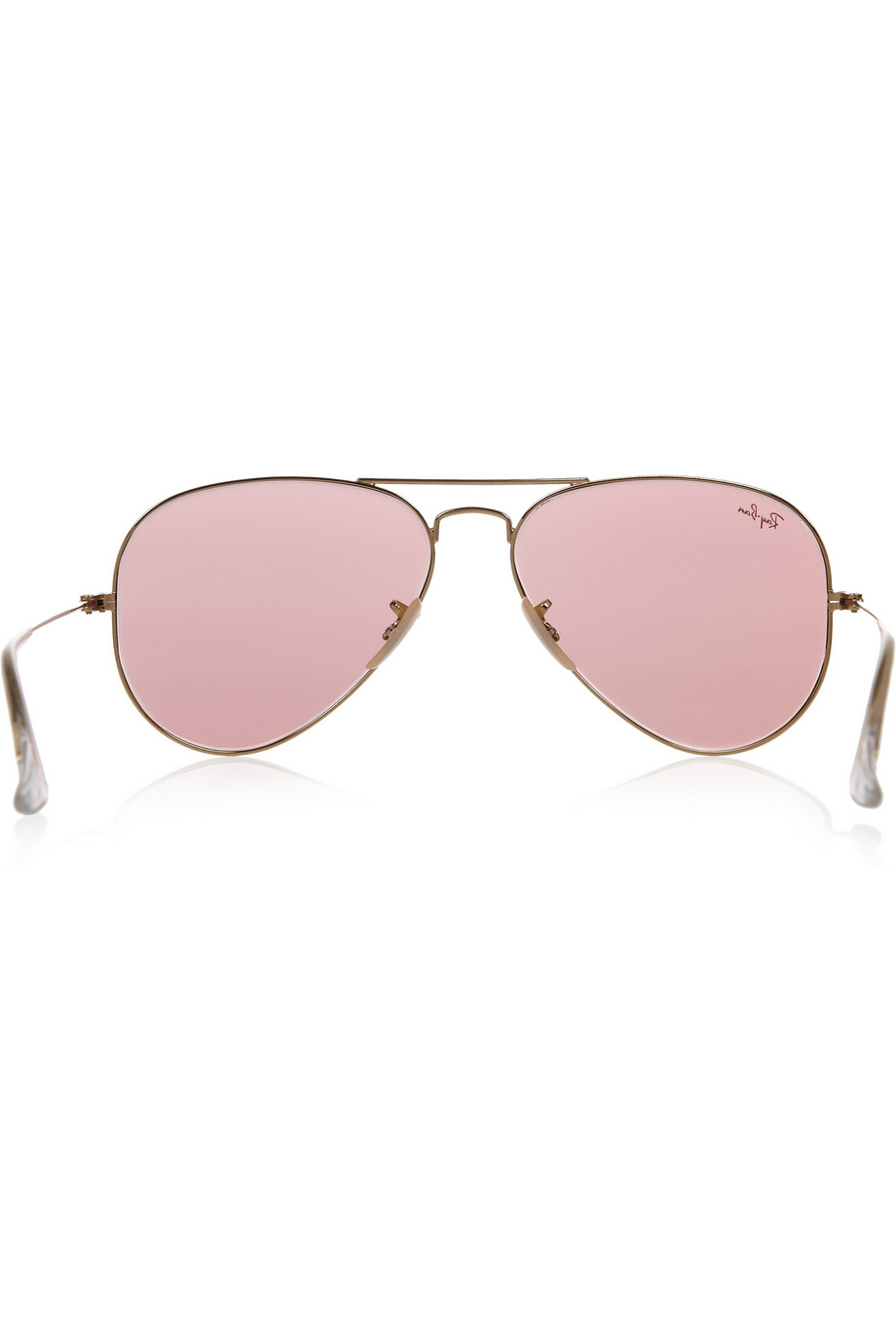 Lyst Ray Ban Aviator Mirrored Metal Sunglasses In Pink