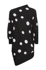 St. John Asymmetric Polka Dot Sweater - Lyst