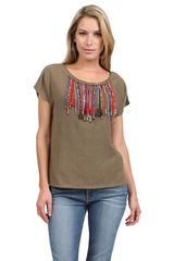 Swildens Beaded Top - Lyst
