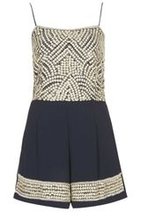 Topshop Riley Playsuit  - Lyst