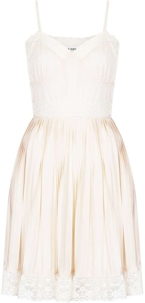 Topshop Pale Pink Slip Dress - Lyst