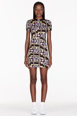 Versus   Stretch Jersey Printed Mia Edition Dress - Lyst
