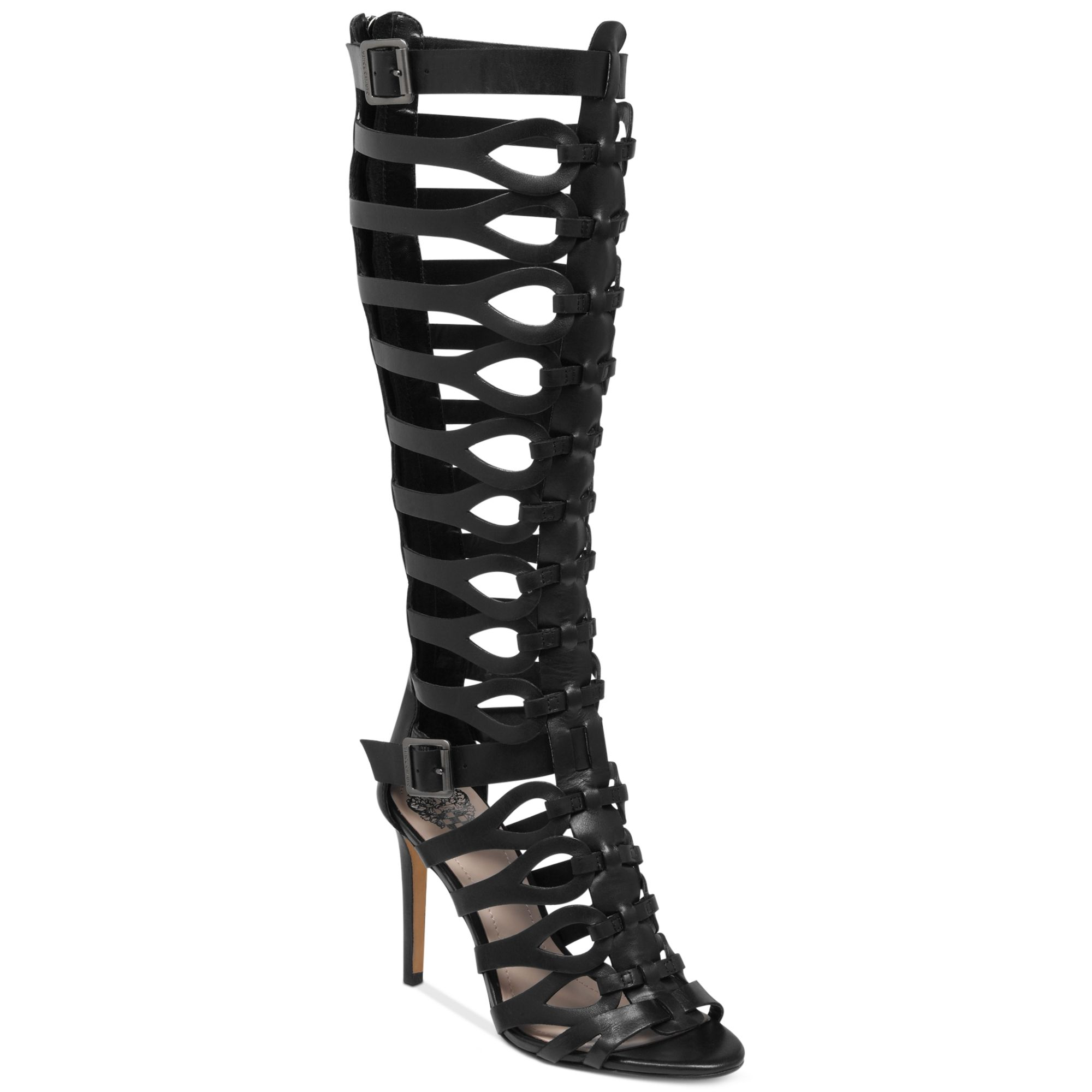 Vince camuto Omera Tall Gladiator Heel Sandals in Black | Lyst