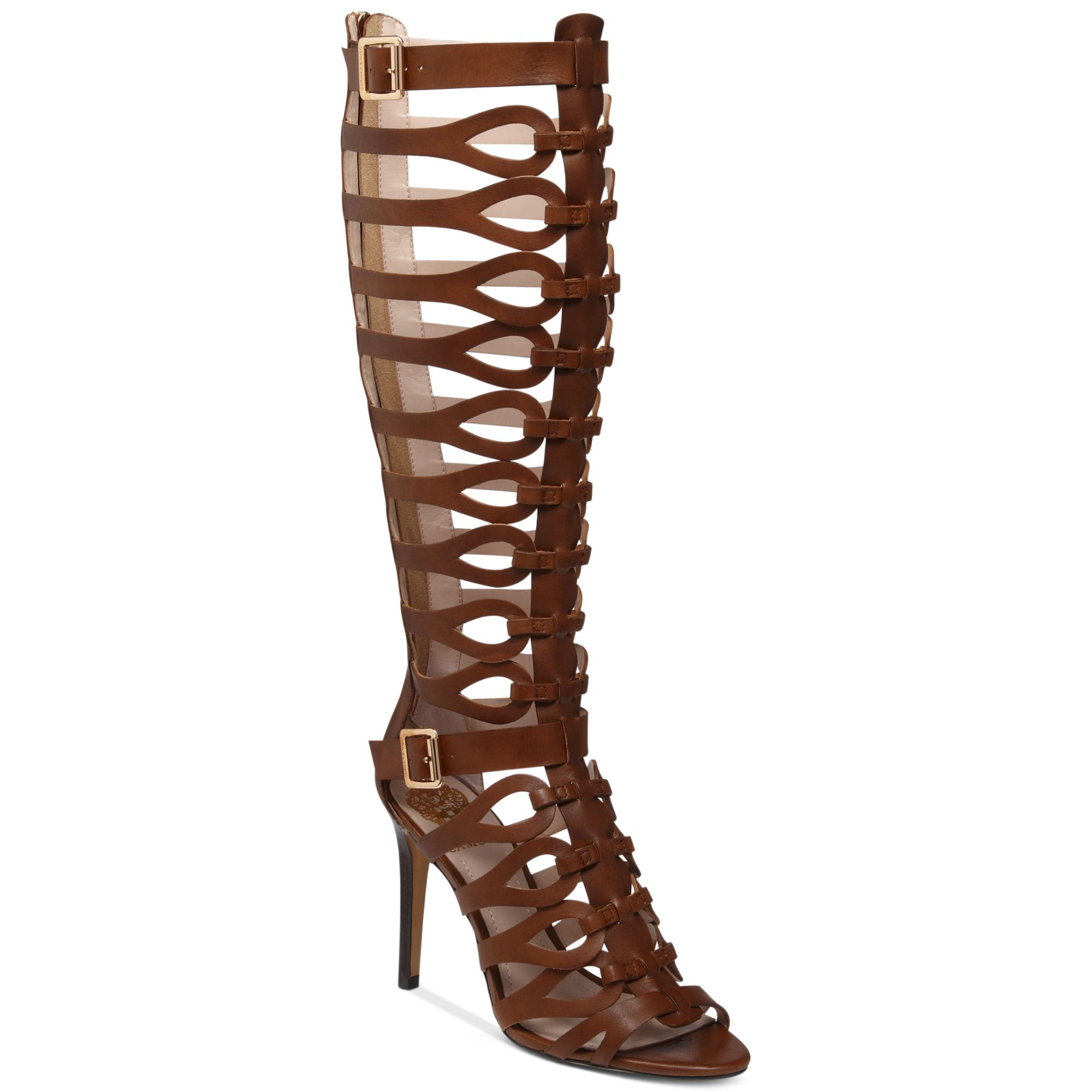 Lyst Vince Camuto Omera Tall Gladiator Heel Sandals In Brown
