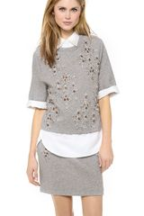 3.1 Phillip Lim Embellished Crop Box Tee - Lyst