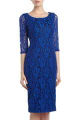 Alexia Admor Lace Sheath Dress Vivid Blue - Lyst