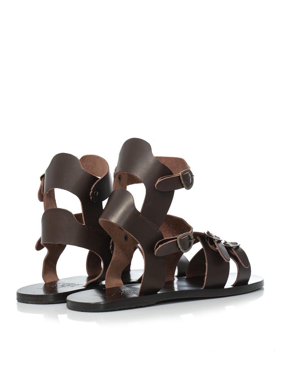 84aaf84b7520 Lyst - Ancient Greek Sandals Achilles Leather Sandals in Brown for Men