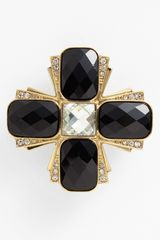 Anne Klein Maltese Cross Statement Pin - Lyst