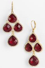 Anne Klein Stone Chandelier Earrings - Lyst