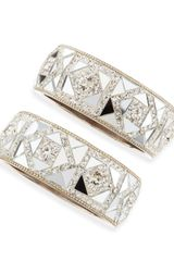 Chamak By Priya Kakkar Set Of Two Mirrored Crystal Bangles - Lyst