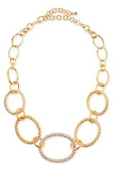 Chamak By Priya Kakkar Textured Graduatedlink Necklace - Lyst