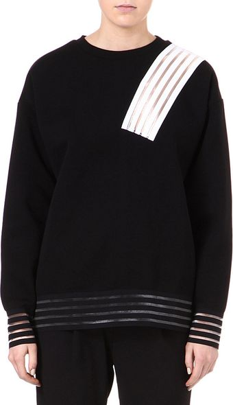 Christopher Kane Sheerpanel Sweatshirt - Lyst