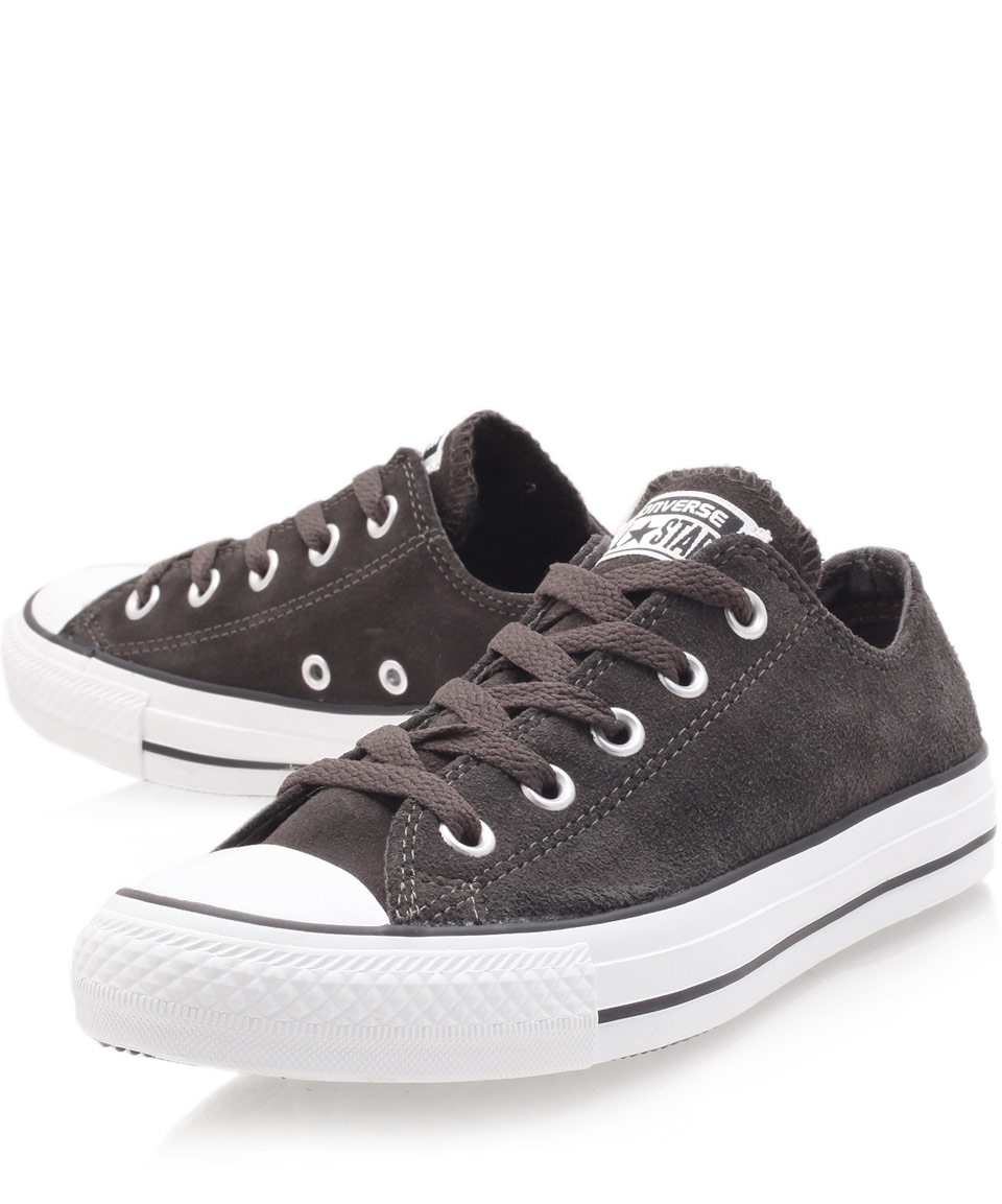 Lyst Converse Black Chuck Taylor Suede Low Trainers In