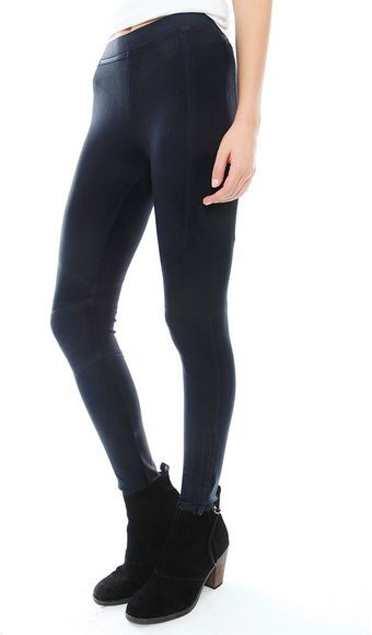 David Lerner Seamed Coated Legging - Lyst