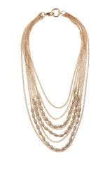 Fragments Multichain Rhinestone Necklace - Lyst