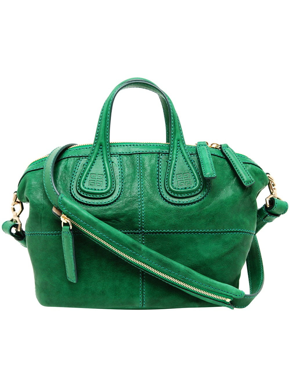 5f6564139f08 Lyst - Givenchy Nightingale Micro Leather Bag in Green