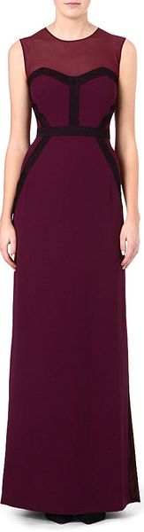 Hugo Boss Sleeveless Sheer Top Gown - Lyst