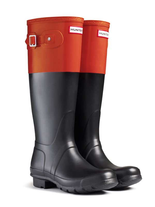 Hunter Original Colorblock Rain Boots in Orange | Lyst