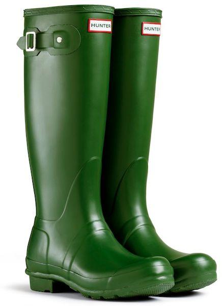Hunter Original Tall Rain Boots In Green For Men Lyst