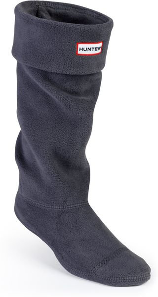 Hunter Fleece Welly Socks In Blue For Men New Charcoal