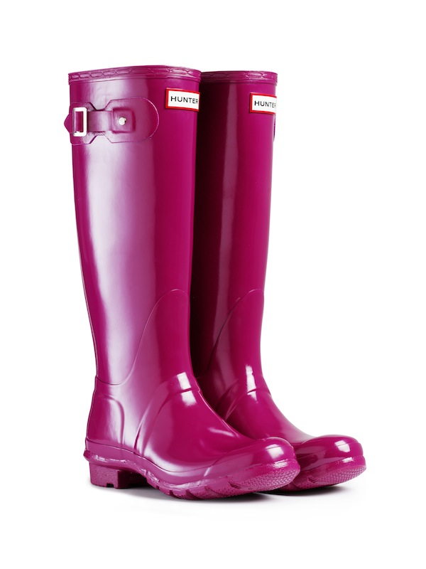 Hunter Original Tall Gloss Rain Boot In Purple For Men