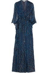 Issa Printed Silk and Lurexblend Chiffon Maxi Dress - Lyst