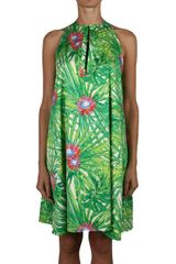 Jo No Fui Printed Cotton Dress - Lyst