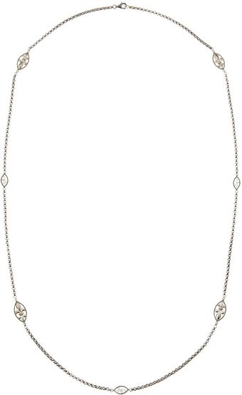 Judefrances Jewelry Fleur De Lis Diamond Chain Necklace - Lyst