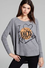 Junk Food Tee I Heart The Knicks - Lyst