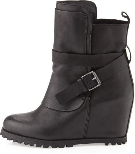 kelsi dagger vina wedge ankle boot black in gray 8 lyst