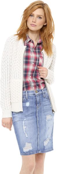 Madewell Honeycomb Sweater Jacket - Lyst