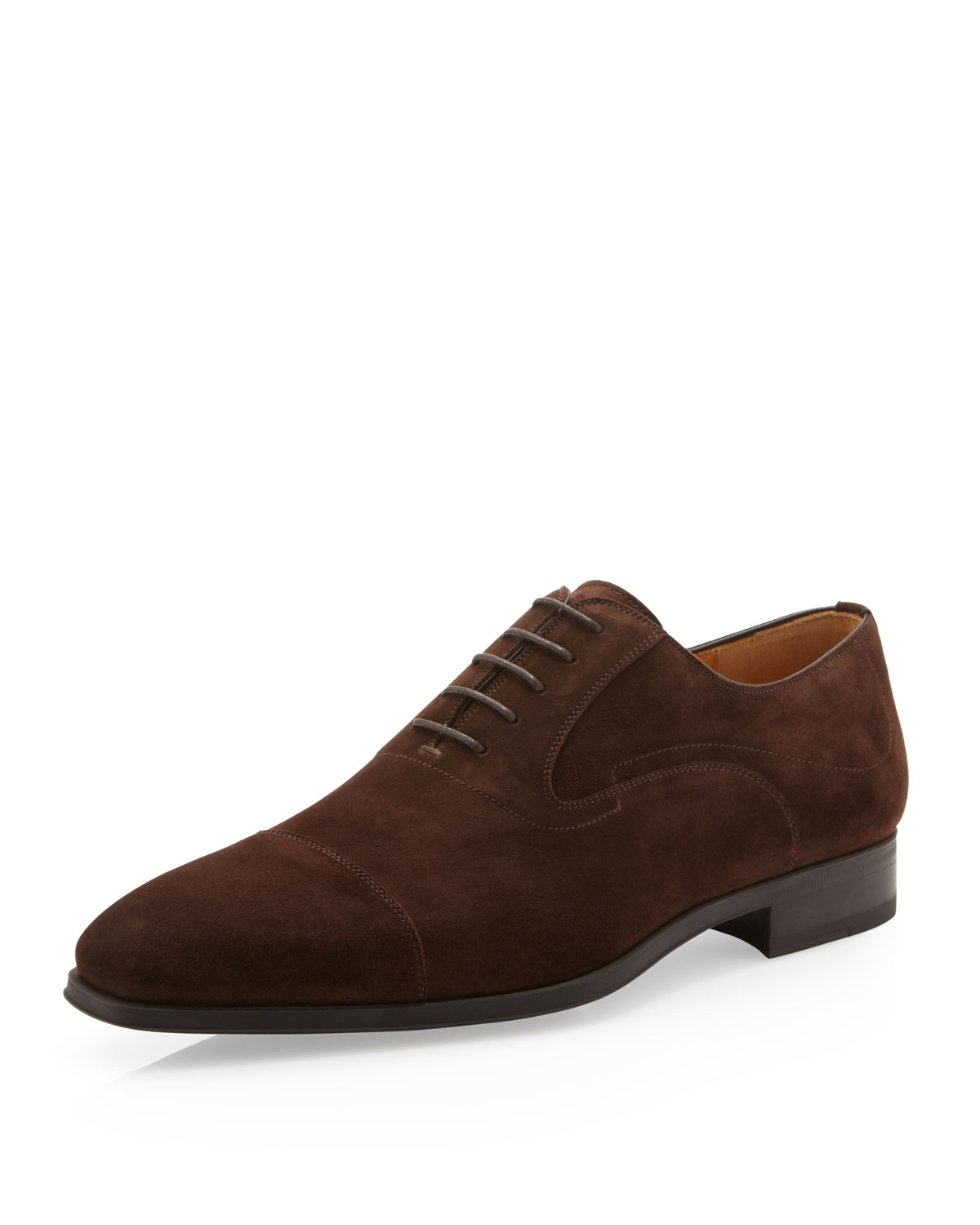 magnanni suede oxford shoe cacao in brown for 8 lyst