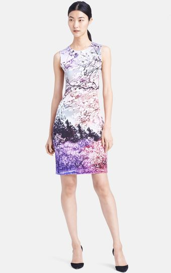 Mary Katrantzou Sleeveless Print Jersey Dress - Lyst