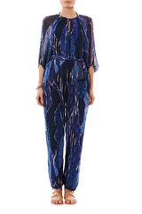 Matthew Williamson Escape Exotic Skin Camo Print Silk Jumpsuit - Lyst