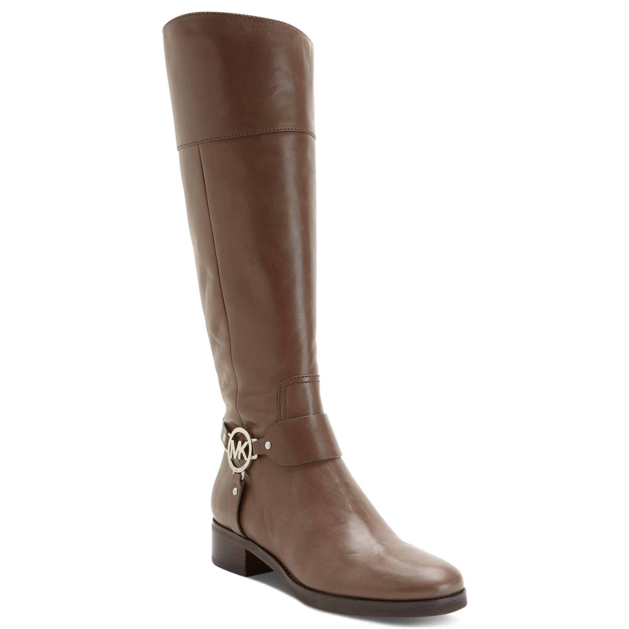 michael kors michael fulton harness boots in brown birch