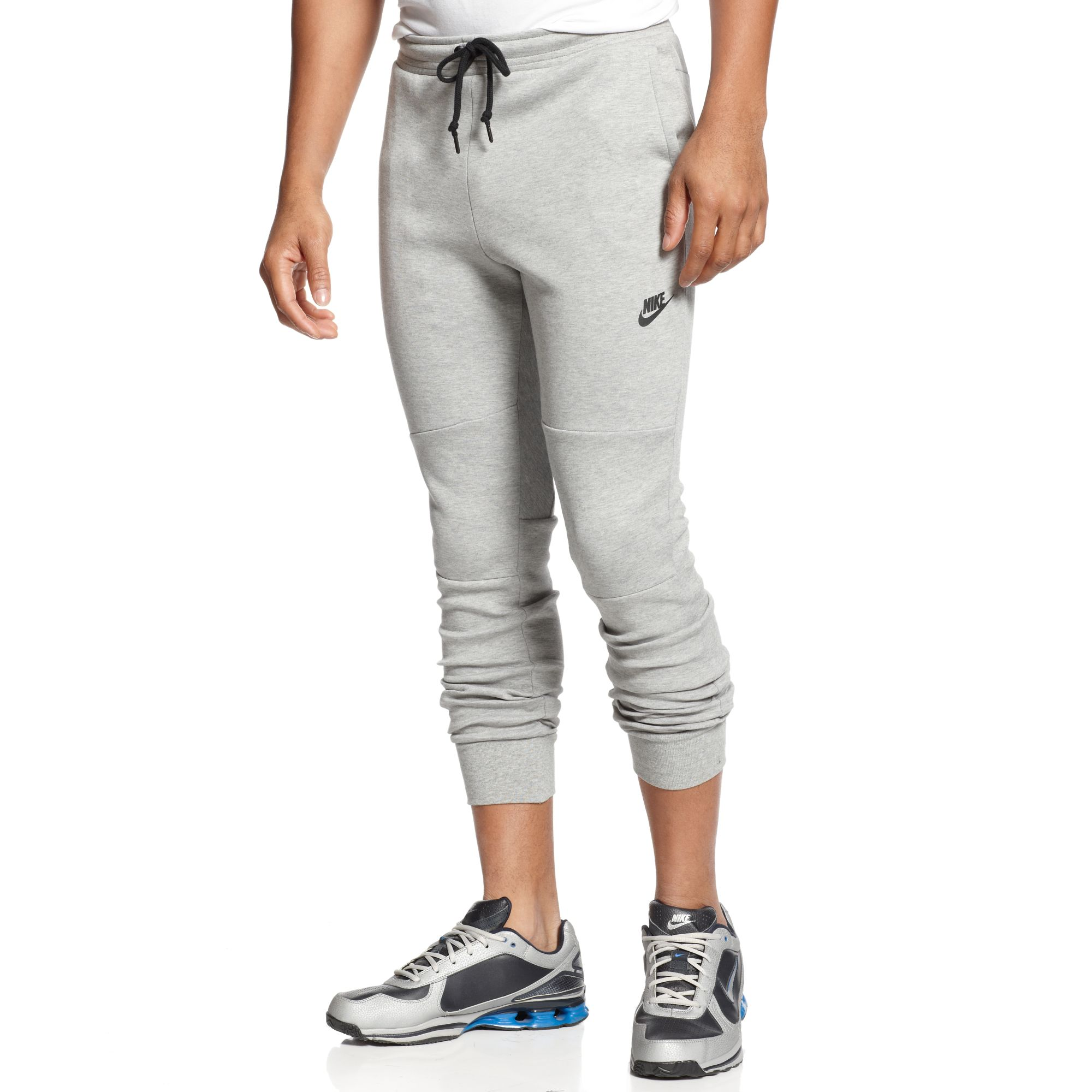 lyst nike tech fleece pants in gray for men. Black Bedroom Furniture Sets. Home Design Ideas